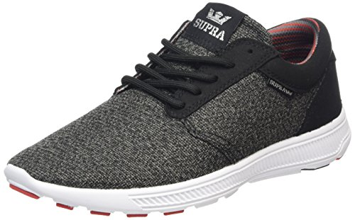 Supra Hammer Run Shoes (Charcoal Heather/Red/Black-White) Men's Sneakers