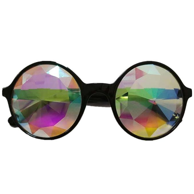3 couleurs kaléidoscope Lunettes Rainbow Prism- Rainbow Rave Prism  Diffraction pour la musique, les festivals, émissions de lumière, noir   Amazon.fr  ... 13c3838c6df4