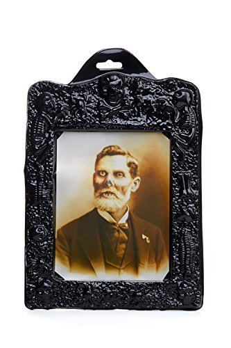 [Holographic Changing Photograph Framed Creepy Vintage Prop Decoration Halloween (Black, brown)] (Halloween Characters Ideas)