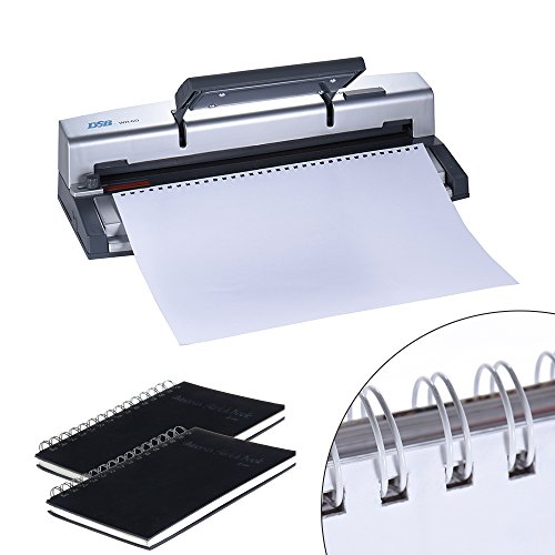 Aibecy DSB WR-60 A4 Paper Puncher + Binder Punch Wire Binding Machine 34/32 Holes, 6 Sheets Punching, 45 Sheets Binding, Support 6.4mm Wire by Aibecy (Image #3)