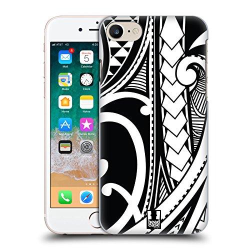 Head Case Designs Ornate Swirl Samoan Tattoo Hard Back Case Compatible for iPhone 7 / iPhone 8 (Best Samoan Tattoo Designs)
