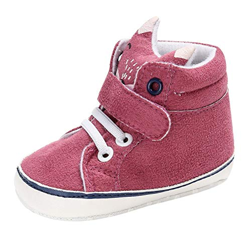 Baby Autumn Shoes Kid Boy Girl Fox Head Lace Cotton Cloth First Walker Anti-Slip Soft Sole Toddler Sneaker -