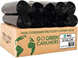 Reli. Recyclable Eco-Friendly Trash Bags, 33 Gallon (150 Count) - Made From Recycled Content (SCS Certified) - Go Green Canliners - Environment-Friendly Garbage Bags (30 Gallon - 35 Gallon) (Black)