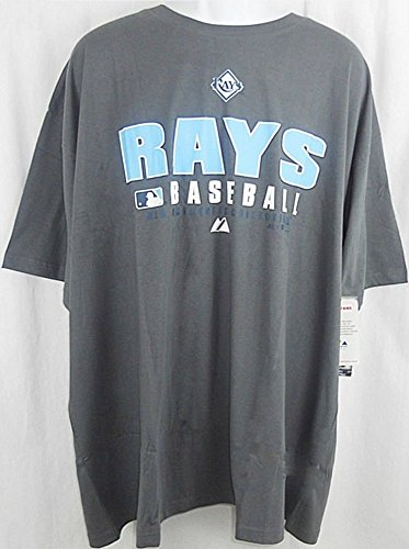 Majestic Tampa Bay Rays Authentic Collection Granite Shirt Big & Tall Sizes (3XT) ()