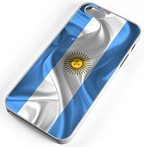 iPhone 8 Plus 8+ Case Argentina Flag National Flag Country Celeste Customizable TYD Designs in White -