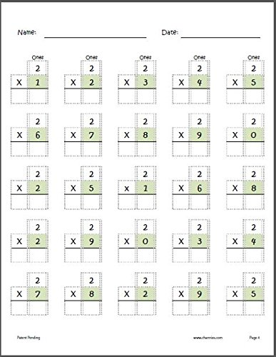 Channie's One Page A Day Single Digit (Beginner) Multiplication Practice Workbook for 2nd-3rd Grades Photo #4