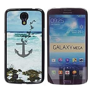 iKiki Tech / Estuche rígido - Blue Sea Waves Art Beach - Samsung Galaxy Mega 6.3 I9200 SGH-i527