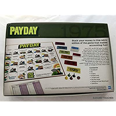 Retro Series Payday Board Game, 1975 Edition – Where Does All The Money Go, The Game of Handling Finances – Ideal Board Games for Families and Game Nights – Collectable Retro Version, Ages 8 and Up: Toys & Games