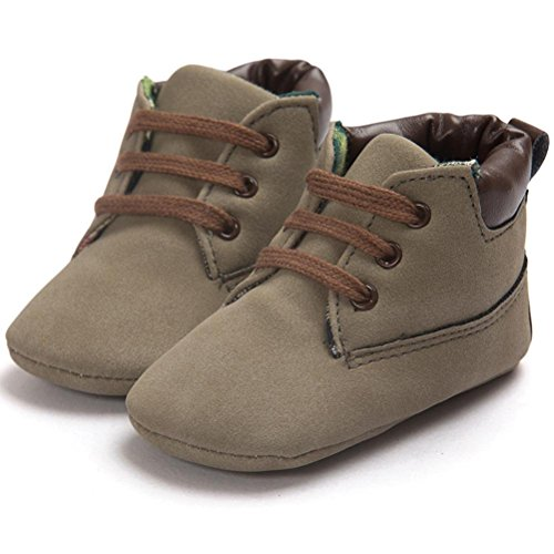 Zapatos Bebé,Xinantime Niña Niño Zapatos de Cuero Artifical Suave Invierno (17, Khaki) Marrón1