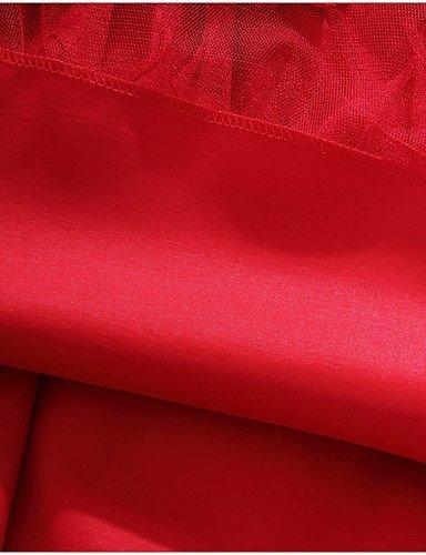 PU&PU Robe Aux femmes Grandes Tailles Grandes Tailles / Soirée Au dessus du genou Satin / Maille , red-xl , red-xl