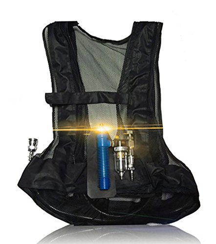 - Air Conditioner Vest Vortex Tube Personal Compressed Air Cooling Waistcoat Body Safery Cooled Conditioning Clothes for Women Men Black for Work