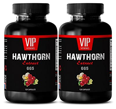 Hawthorn herbal supplement - HAWTHORN EXTRACT 665 - Diuretics for water retention - 2 Bottles 240 Capsules