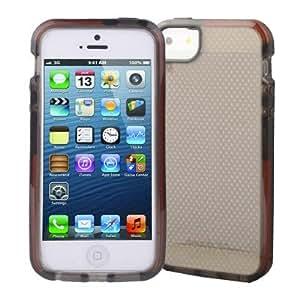 Cokitec-Carcasa para iPhone 5/5S, diseño de malla, color translúcido DolTech Series