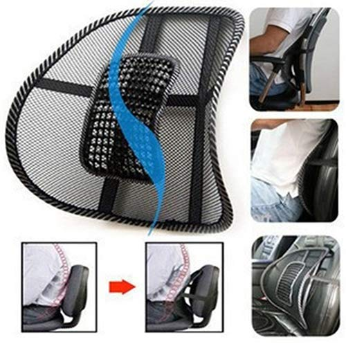 Lumbar Back Massage Mesh Brace Support Office Home Car Seat Chair Back Cushion qsbai by qsbai (Image #1)