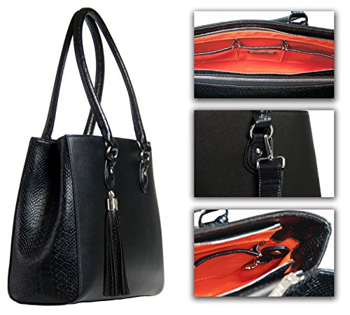 BfB Replacement Handles For Your Jennifer Business Tote – Refresh Your Womens Laptop Work Bag And Make It Look Brand New With New Purse Straps - BLACK by My Best Friend is a Bag (Image #4)