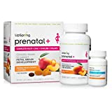 UpSpring Prenatal+ Gummy Multivitamin plus DHA, Choline and Natural Folate, 90 gummies and 30 softgels