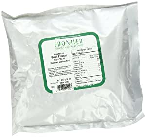 Frontier Vegetarian  Broth Powder, Beef Flavored, 16 Ounce Bag