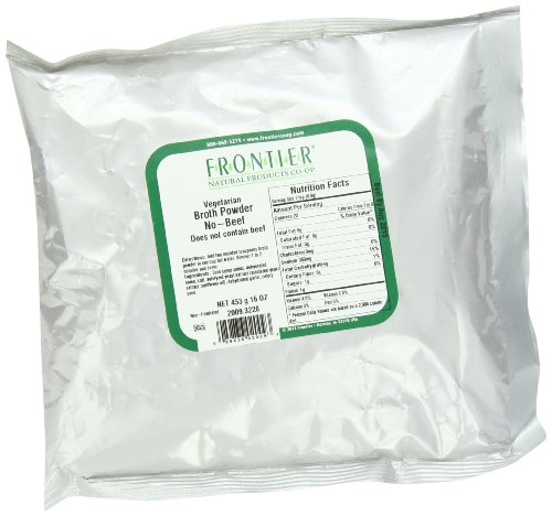 Frontier Vegetarian  Broth Powder, Beef Flavored, 16 Ounce (Flavored Beef)