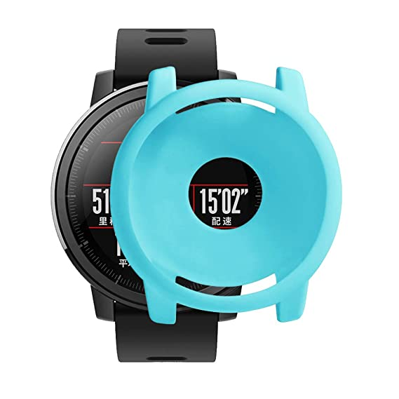 Silicone Watch Protective Case for Xiaomi Huami Amazfit Strato 2/2S, Sports Watch Case Full Cover Protective Shell for Huami Amazfit Stratos Smart ...