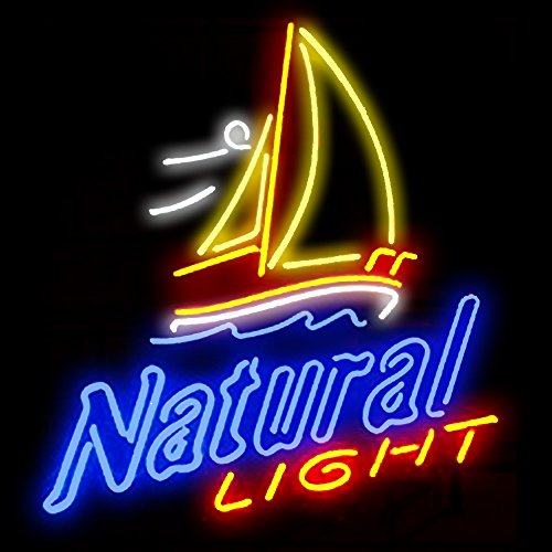 Neon Sign Display - Natural Light Real Glass Beer Bar Pub Store Party Room Wall Windows Display Neon Signs 19x15