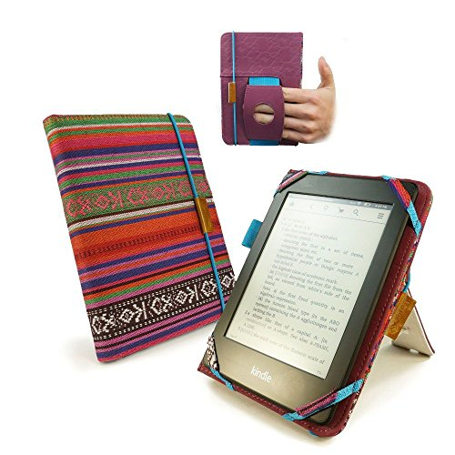 Tuff-luv Embrace Plus Material Case Cover for Kindle Touch/Paperwhite (Sleep Function)/Sony Kobo Touch - Navajo by Tuff-luv