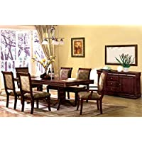 7 Pc. St. Nicholas I in a Cherry Wood Finish Rectangular Dining Table Set