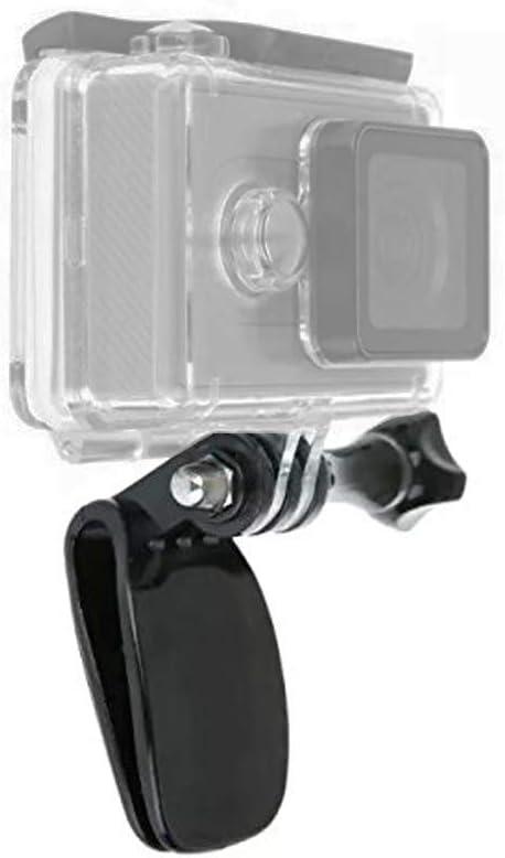 Hat Mount Baseball Cap Quick Release Clip Clamp Mounts Compatible with GoPro Hero 8/7/6/5 Black, Hero 4, Hero 3, Hero 4/5 Session, Fusion, Xiaomi YI, SJCAM, DJI OSMO Action Cameras