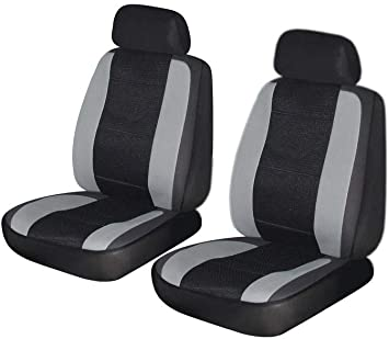 Fit Most Car,Truck, SUV, or Van with headrest flatcloth Blue, Full Set Airbag Compatible AUTONISE Universal fit Classic Sport Bucket seat Cover