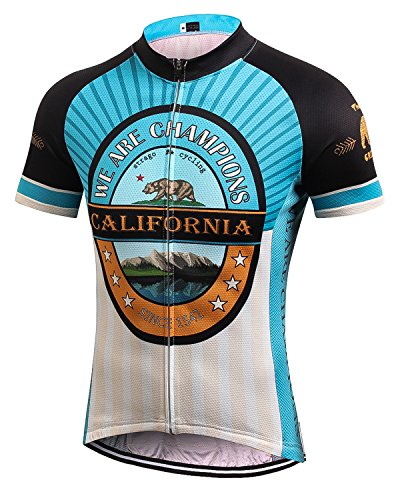 MR Strgao Men's Cycling Jersey Bike Short Sleeve Shirt