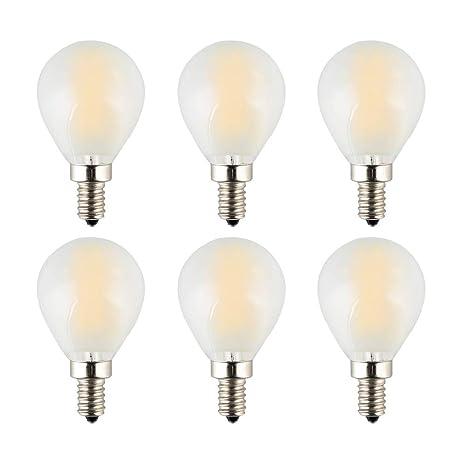 OPALRAY - Bombilla LED de filamento de tungsteno regulable G45 (G14), 2700 K, luz blanca cálida, ...