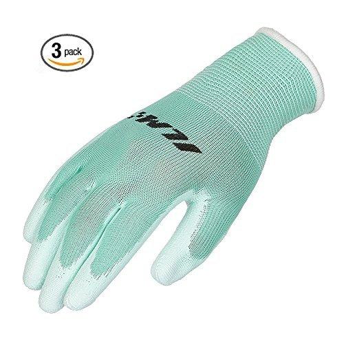 ILM Safety Work Gloves Utility Ultimate Nitrile Grip For Garden Electrician Automotive Kids Women Men (S, GREEN) by ILM