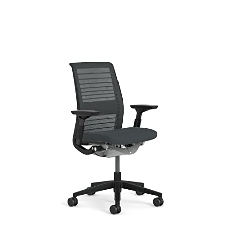 Amazon.com: Steelcase Think Chair: Adjustable Lumbar Support - Height Adjustable Arms - Standard Carpet Casters - 3D Knit Back: Kitchen & Dining