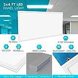 4-Pack 2x4 FT LED Panel Light, Luxrite, 72W, 6500K