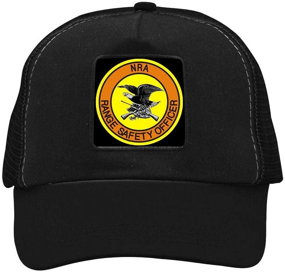 FANZAO NRA Range Safety Officer Baseball Hat Adjustable Mesh Trucker Cap for Unisex