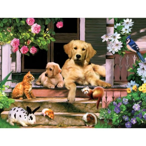 YuheBaby Summer on the Porch a 300-Piece Jigsaw Puzzle