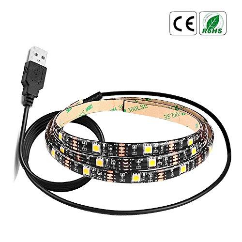 Price comparison product image 24Key Remote Controller RGB LED Strip Lights, 123Loop 5V 5050 60SMD / M RGB LED Strip Light Bar TV Back Lighting Kit+USB Remote Control (2M)