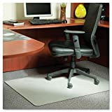 Stainless 60x46 Rectangle Chair Mat, Design Series for Carpet up to 3/4'' by ES Robbins