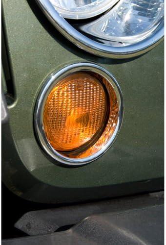 Rugged Ridge 13311.22 Chrome Turn Signal Light Trim Pair