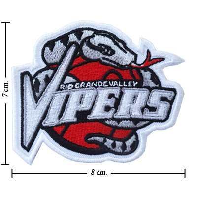 Rio Grande Valley Vipers Type-1 Embroidered Iron On Applique