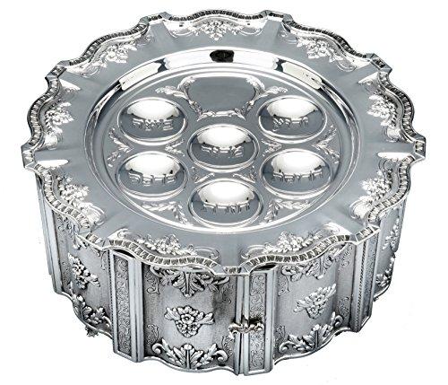 Hazorfim Cobalt Silver Pesach Seder Bowl Passover Pesach sterling silver judaica Israel Jerusalem Holy land gift .925 925 seder Jewish holiday hatzorfim by Hazorfim