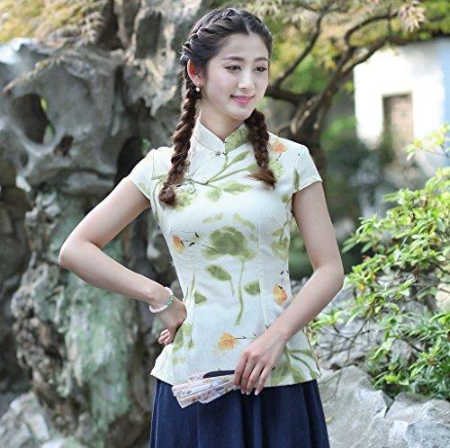 4201c1296543b Shanghai Story Women s Linen Tang Suit Chinese Cheongsam Shirt Blouse Top 7  Style
