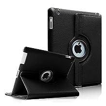 Fintie Apple iPad 2/3/4 Case - 360 Degree Rotating Stand Smart Case Cover for iPad with Retina Display (iPad 4th Generation), the new iPad 3 & iPad 2 (Automatic Wake/Sleep Feature), Black