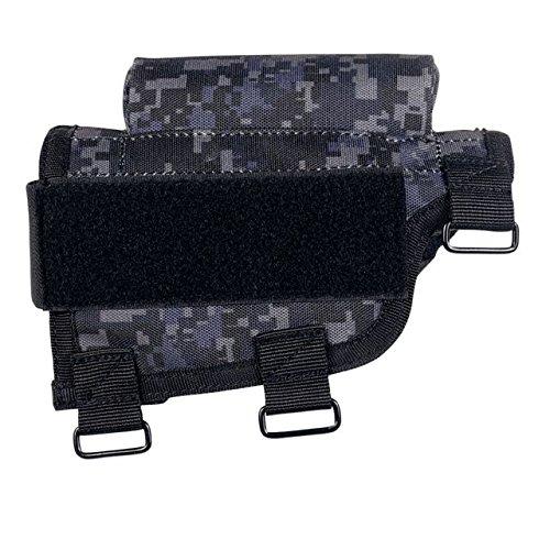 VooDoo Tactical 20-9421081000 Buttstock Cheek Piece with Ammo Carrier, Urban (Stock Cheek Piece)