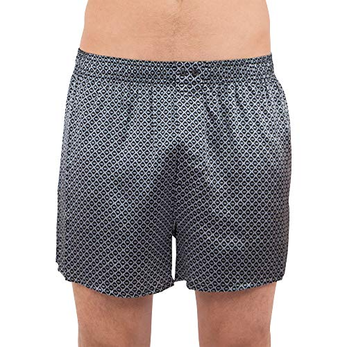 Stretch Silk Boxer Shorts, Black, ()