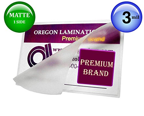 Oregon Lamination Hot Laminating Pouches Legal (Pack of 100) 3 Mil 9 x 14-1/2 Matte/Gloss