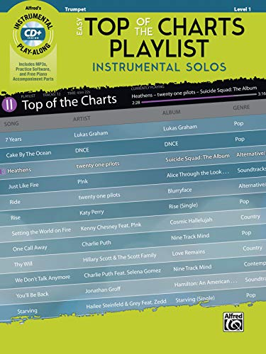 Easy Top of the Charts Playlist Instrumental Solos: Trumpet, Book & CD (Instrumental Solos Series)