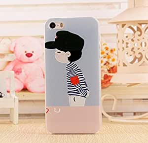 Fashion and Cute Series 3D Relief Sculpture Apple iphone 4 iphone 4g iphone 4s Case Hard Plastic Personality Pattern Back Cover with Clear Frame - Boy