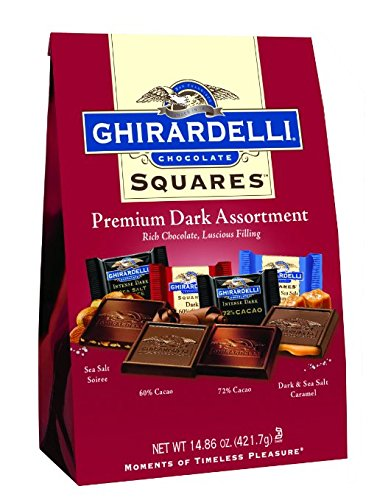 (Ghirardelli Dark Assorted Sqaures Xl Bag, 14.85 Ounce(pack of 3 Bags))