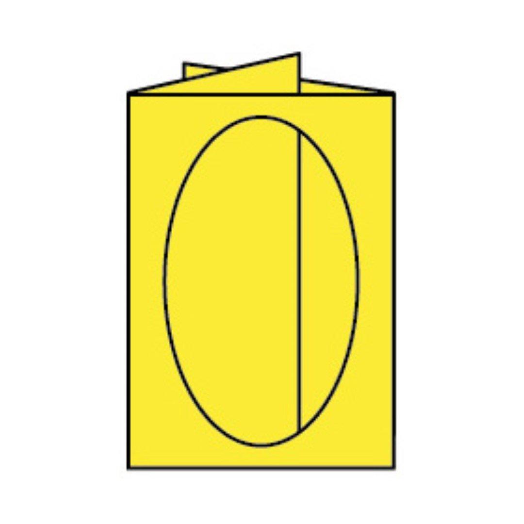 Rössler Papier - - Paperado-Karte Ft.B6 PP-oval, Soleilgelb - Liefermenge  25 Stück B07CX74C54   Spielen Sie das Beste
