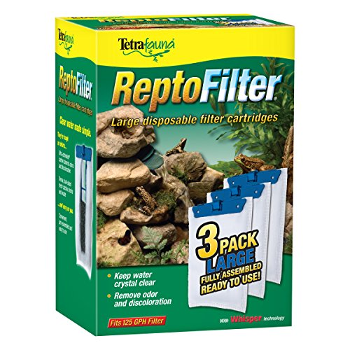 - Tetra ReptoFilter Filter Cartridges, With Whisper Technology